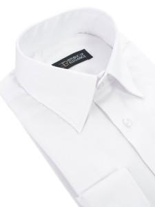 a102014c854163 Biała koszula do muchy na spinki męska szyta na miarę 100% bawełna