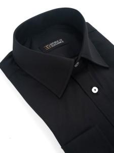 bc9117fa7a Czarna koszula męska szyta na miarę 100% bawełna