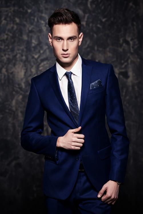 1127a03be9056 Granatowy garnitur męski który uszyjemy specjalnie dla Ciebie ! Online !